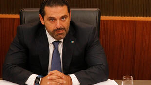 Saad al-Hariri durante un debate parlamentario en Beirut. Líbano, 18 de octubre de 2017: