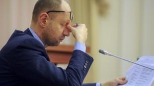 Арсений Яценюк, 8 апреля 2014.