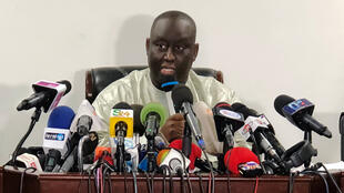 Aliou Sall, frère du président Macky Sall, en conférence de presse à Dakar, le 3 juin 2019.