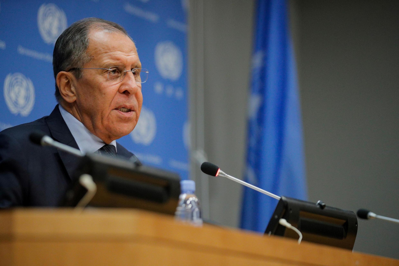 Le ministre des Affaires étrangères russe, Sergueï Lavrov.
