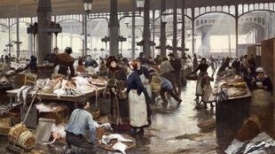 Виктор Габриэль Жильбер «Рыбный зал на Центральном рынке», 1881 г.
