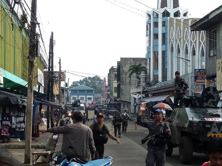 Ambiente de tensión en Jolo, Filipinas este domingo 27 de enero 2019.