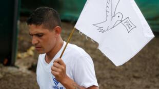 Colombien demandant la fin des conflis (illustration)