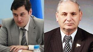 Депутаты-единороссы Александр Хинштейн и Борис Резник