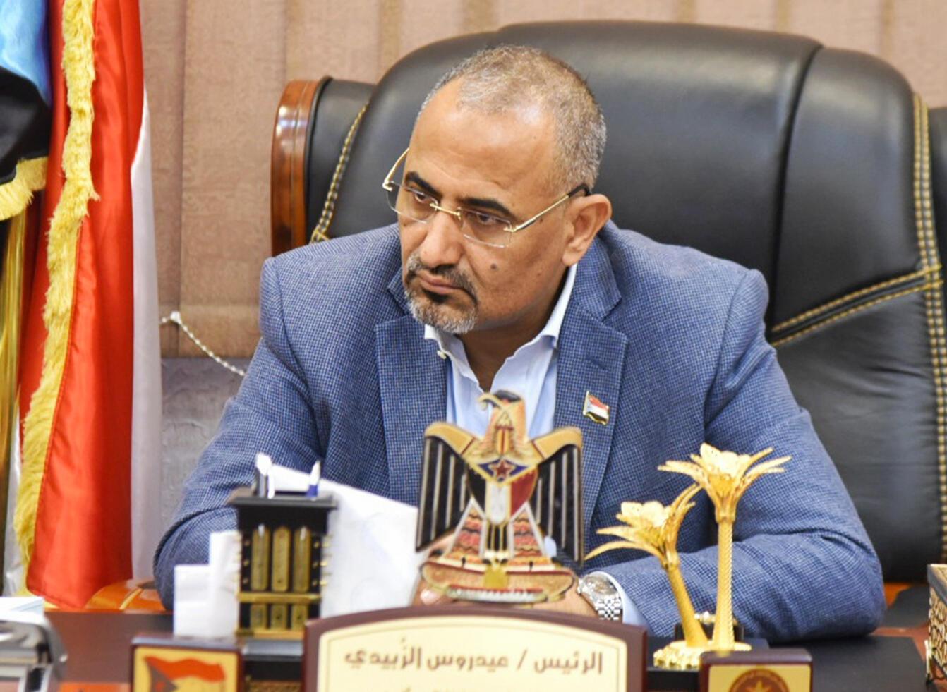 Aidarous al-Zoubeidi, mkuu wa Baraza la Mpito la Kusini mwa Yemen, Januari 16, 2020 huko Aden.
