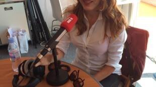 "Luciane Araújo, directora geral do projecto ""Nossa língua.doc"" no Festival de cinema de Cannes"