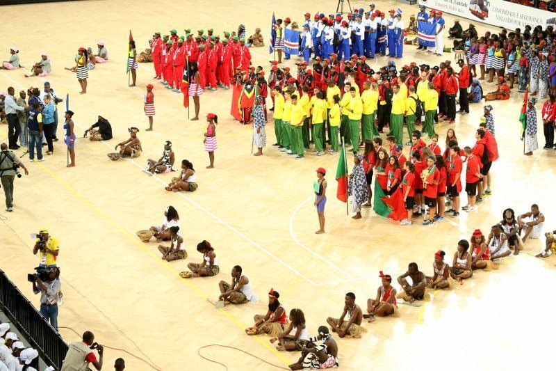 Cerimónia de abertura dos IX Jogos da CPLP, em Luanda