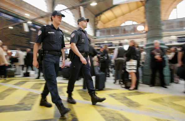 French police in the Gare du Nord in 2010