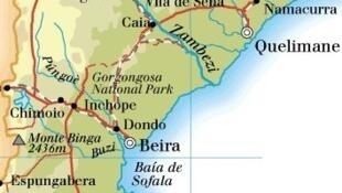 Gorongosa, província de Sofala, em Moçambique