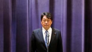 Bộ trưởng Itsunori Onodera phát biểu trong cuộc họp của Quốc Phòng Nhật Bản, ngày 3/9/2018, tại Tokyo.