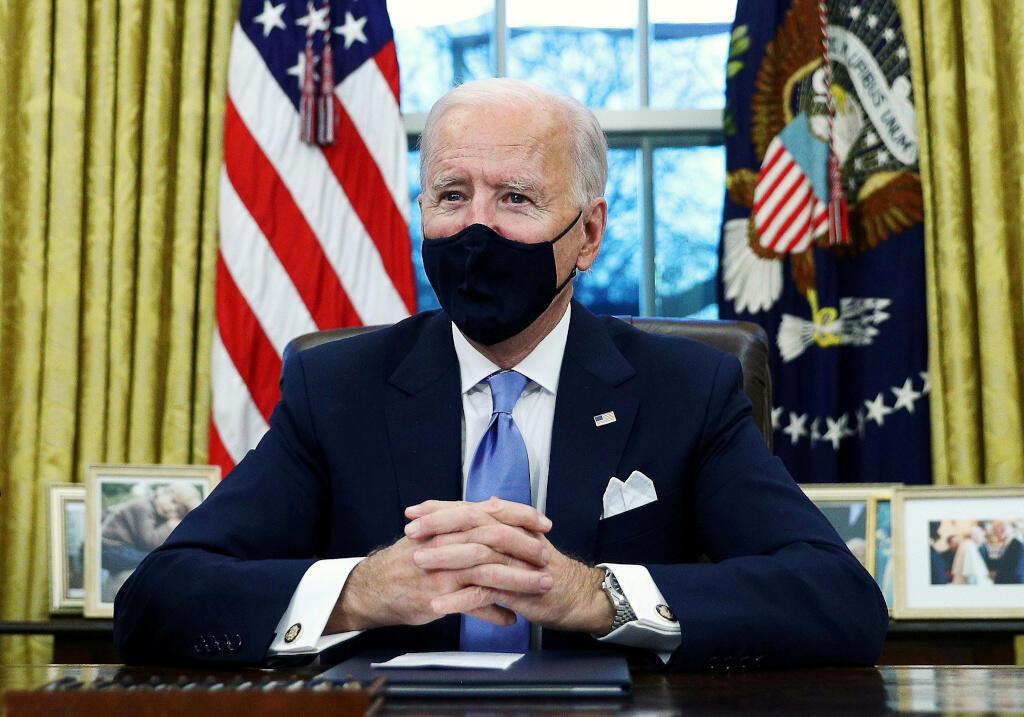 Joe Biden, 46e président américan dans le bureau ovale