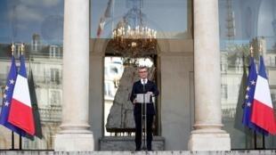 Tổng thư ký phủ tổng thống Pháp Alexis Kohler thông báo danh sách tân nội các mới, Điện Elysée, Paris, Pháp, ngày 06/07/2020