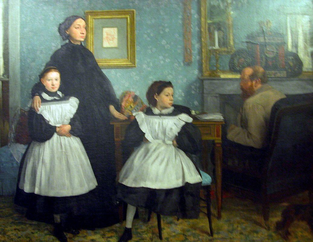 ادگار دوگا به همراه خانواده