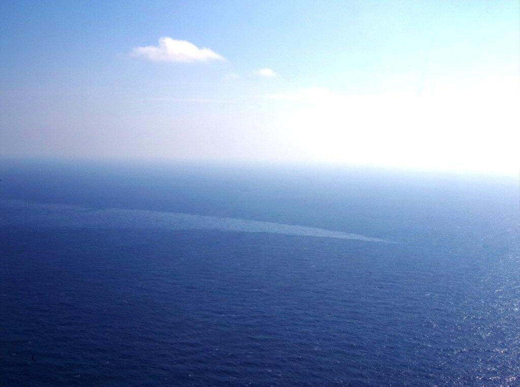 La marée noire provoquée par le naufrage du pétrolier Sanchi. Mer de Chine orientale, le 17 janvier 2018.