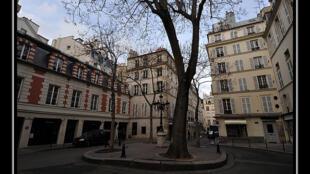 La place Furstenberg à Saint-Germain-des-Prés.