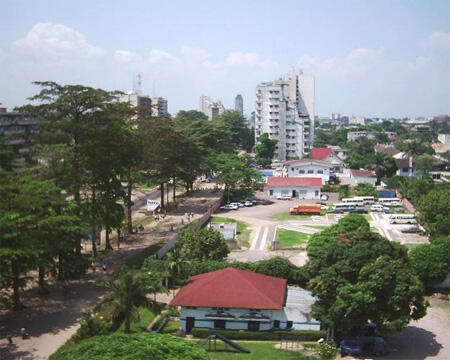 Gombe district in Kinshasa.