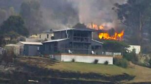 Incendios en Tasmania, 6 de enero de 2013.