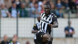 Cheikh Ndoye avec le maillot d'Angers.