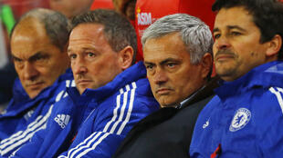 Chelsea manager Jose Mourinho watches the penalty shootout Football - Stoke City v Chelsea - Capital One Cup Fourth Round - Britannia Stadium - 27/10/15