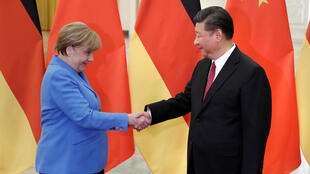 2018年5月24日,德国总理默克尔在北京与中国国家主席习近平会晤。