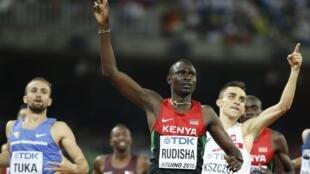 O queniano David Rudisha venceu a prova dos 800 metros em Pequim na China.