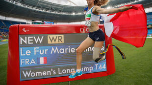 La nouvelle Présidente du Comité paralympique et sportif français Marie-Amélie Le FUR lors des Jeux paralympiques 2016 à RIO. 法國殘疾人奧林匹克運動委員會主席馬莉-阿美莉·勒弗爾女士2016年在巴西里約奪金