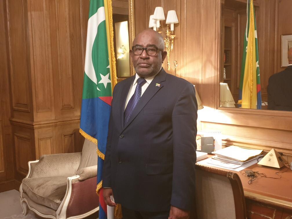 Azali Assoumani, le président des Comores, à Paris le 5 décembre 2019.