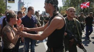 Парад пленных в воскресенье в Донецке