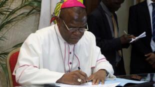 Monseigneur Fridolin Ambongo, à Kinshasa le 31 décembre 2016.