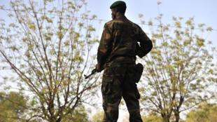 Militaire malien dans le Kati, près de Bamako.