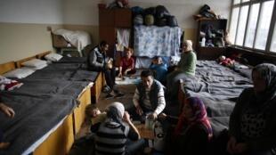 Dans un camp de réfugiés syriens en Bulgarie, le 22 novembre 2013.