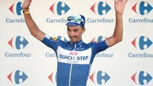 Julian Alaphilippe firma su segunda victoria en el Tour de Francia 2018 el 24 de julio en Bagnères-de-Luchon.