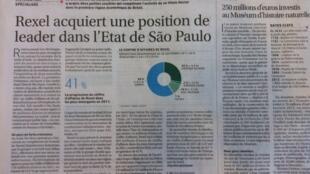 'Les Echos' destaca a ampliação da presença da Rexel no Brasil.