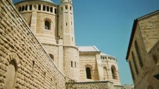 L'église chrétienne de la Dormition, sur le Mont-Sion, Jérusalem, Israël.