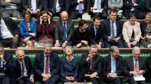 Theresa May en el Parlamento británico, este 14 de marzo de 2019.