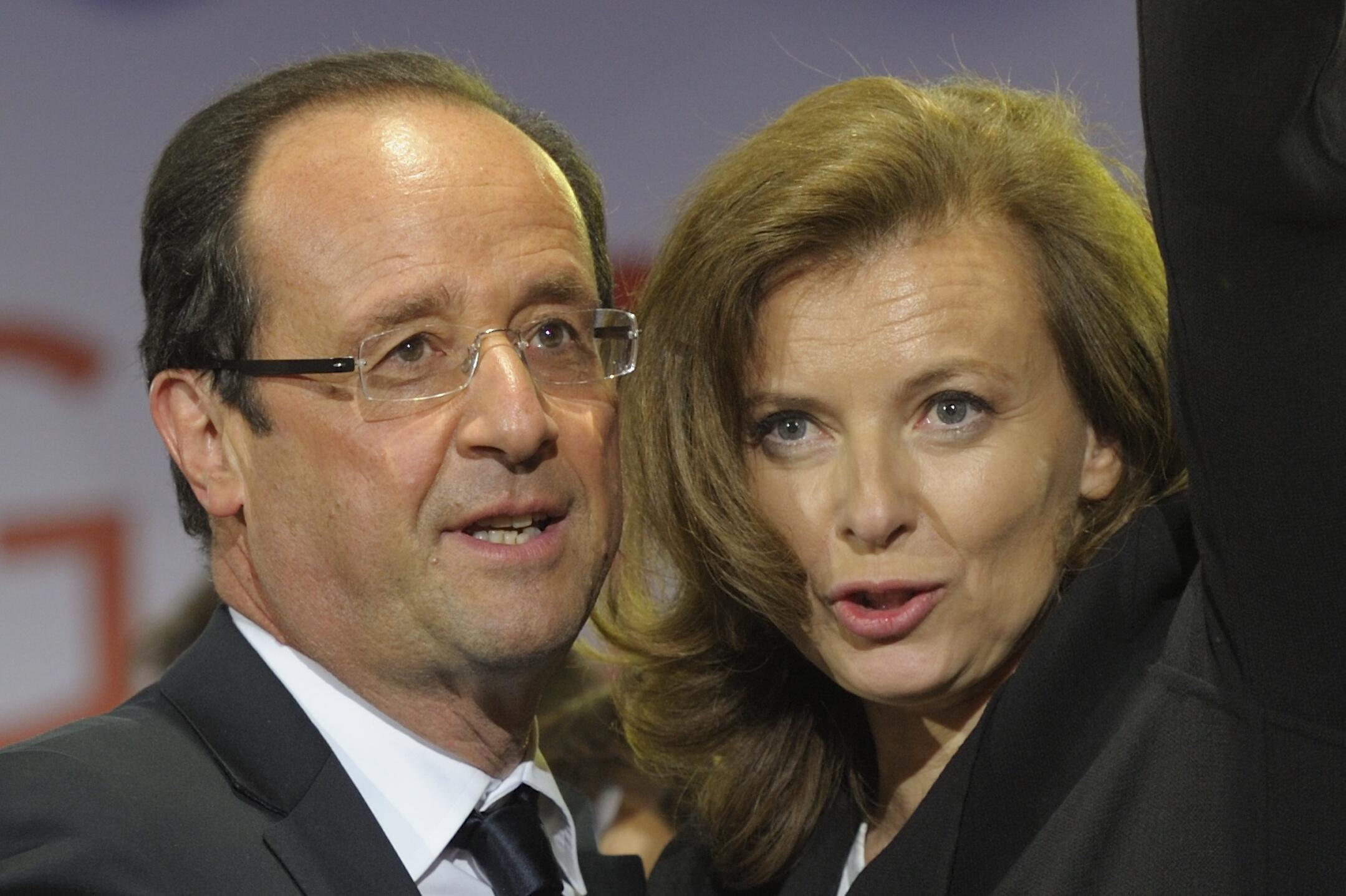 Valérie Trierweiler e François Hollande.
