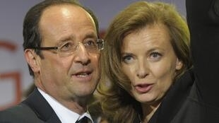 French president with partner Valérie Trierweiler, May 2012