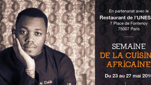 Loïc Dablé, le chef françois ivoiren met à l'honneur la cuisine africaine à l'UNESCO.