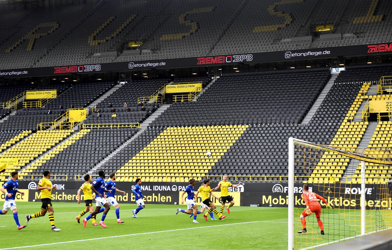 2020-05-16 sport football germany bundesliga coronavirus empty stadium dortmund schalke