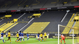 2020-05-16 sport football germany bundesliga coronavirus empty stadium dortmund schalke