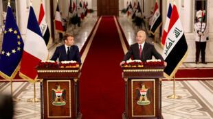 2020-09-02T103045Z_1692490743_RC2AQI96P1DR_RTRMADP_3_IRAQ-POLITICS-FRANCE