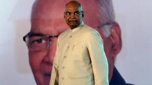 Le président indien, Ram Nath Kovind, à New Delhi, le 20 juillet 2017, lors d'une cérémonie après son élection.