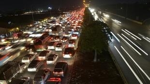 Commuters faced lengthy delays on alternative routes into the Pakistani capital.