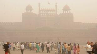 圖為印度空氣污染狀況資料照片