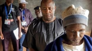 Evariste Ndayishimiye, élu président du Burundi, ici à Gitega, lors du vote le 20 mai 2020.