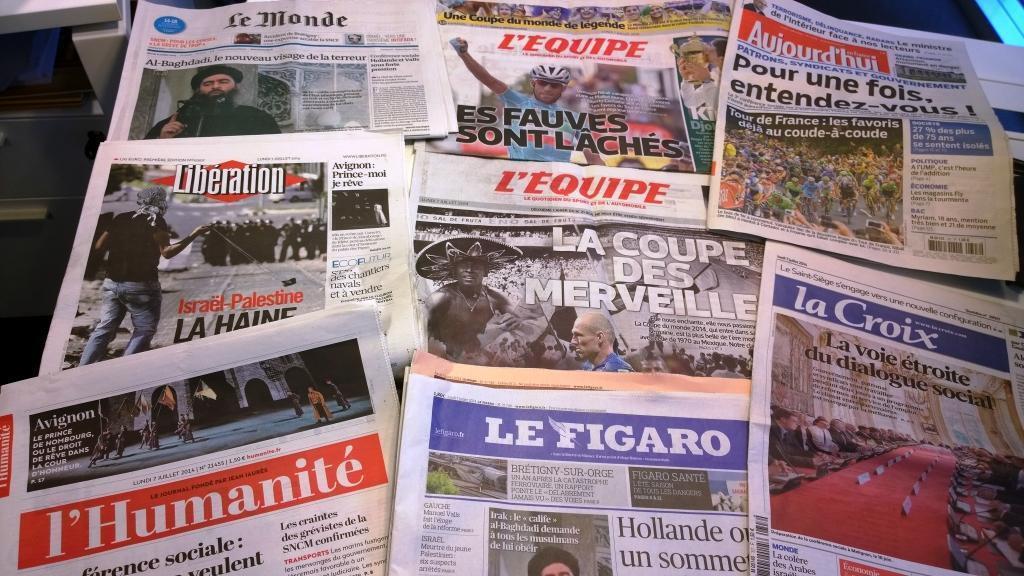 Diários franceses 07/07/2014