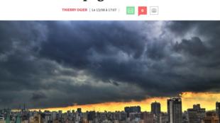 Matéria sobre a economia brasileira publicada no jornal Les Echos nesta segunda-feira (14).