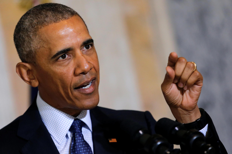 Barack Obama après la réunion avec ses conseillers en sécurité nationale à Washington, le 14 juin 2016.