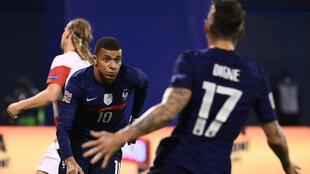Kylian Mbappe got France's late winner in their Nations League clash with Croatia in Zagreb
