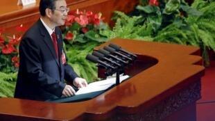 Chủ tịch Toà Án Tối Cao Trung Quốc, ông Chu Cường (Zhou Qiang), tại phiên họp toàn thể lần thứ 3, kỳ họp Quốc hội, ngày 13/03/2016.